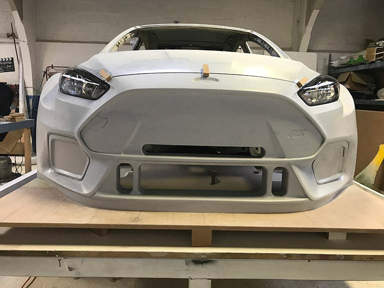 Fibreglass moulding for a car