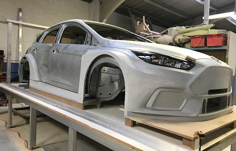 Fibreglass mould for touring car